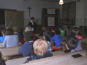 Ein altes Klassenzimmer